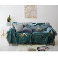 3 Sizes Bohemian Couch Winter Home Sofa Armchair Blanket Bed Single/King  *
