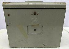 Vintage Antique Brumberger Metal Slide Case Storage w/ Magazine for Slides