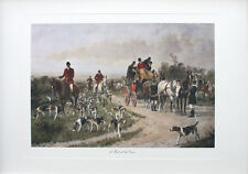 Fox Hunting Print - A Meet At The Cross - Fine Art