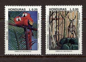 HONDURAS 1993, PARROT, STAG, NATIONAL SYMBOLS, Scott C900-C901, MNH