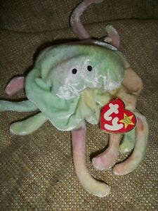 TY Beanie Baby Goochy Jellyfish Retired Rare with tag errors 1998 1998