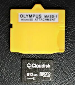 OLYMPUS-Fujifilm XD Picture Card Adapter+512MB MicroSDHC Memory Card