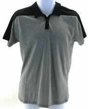 Dikotomy Co Polo Shirt Mens Size Medium Black and Gray Short Sleeve