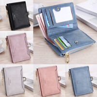 Small Women Zipper RFID Wallet Fashion Lady Solid Coin Pocket Purse Clutch Bags