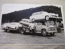 NEW 1955 FORD STATION WAGONS  ON CAR CARRIER    11 X 17  PHOTO /  PICTURE