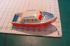 Vintage Red White Blue Hard Plastic Boat version 2, very cool, unmarked
