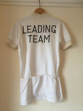 "Vintage 1950s English Cycling Jersey, ""Leading Team"" By Lutz, Front Pockets"