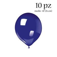 PALLONCINI IN LATTICE 10 pz sfusi medium BLU. addobbi festa compleanno