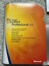 Microsoft Office Professional 2007 in original case with Product Key