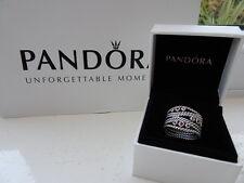 Authentic PANDORA Sterling Silver & Rhodelite Pink Statement Ring 52 190863RHL