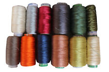 10 Spools Lot Sewing Thread Silk for embroidery Assorted Colors gitti