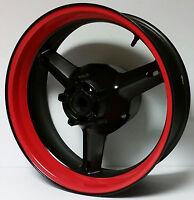 CUSTOM RED MOTORCYCLE INNER RIM DECALS WHEEL STICKERS STRIPES TAPE VINYL WRAP