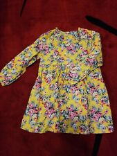 NWT girls spring floral dress above the knee yellow size 8
