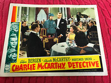 Charlie McCarthy, Detective 1939 Universal comedy lobby card Edgar Bergen Charli