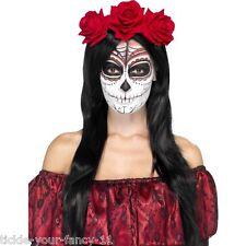 Women's Day of the Dead Band a Mano Halloween Fancy Dress Voodoo Orrore Hen Night