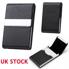 Men Women Black Pocket Tobacco Box Case PU Leather Slim Cigarette Roll Up Holder