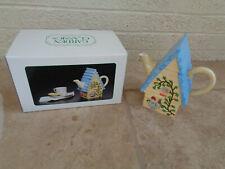 New listing Decorative Birdhouse Teapot Garden Classics Potpourri Designs Press Hand Painted