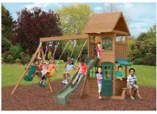 Big Backyard Windale Wooden Cedar Swing Set Playground Outdoor Kids Slide board