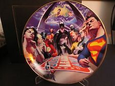 DC DIRECT JLA LIBERTY & JUSTICE LIMITED EDITION COLLECTOR'S PLATE! NM!