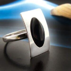 Onyx Silber 925 Ring Sterlingsilber Damen Schmuck verschiedene Größen R114