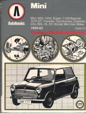 MINI,850,1000,1275 GT,TRAVELLER,CITY,CLUBMAN,VAN,MOKE AUTOBOOKS MANUAL 1959-1982