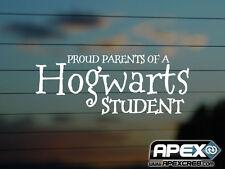 Los padres orgulloso de un estudiante de Hogwarts-Harry Potter parodia-Vinilo Calcomanía-Blanco
