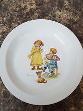 "Vintage Hornsea Pottery 10"" Plate Nursery Pattern Signed N. Sand"