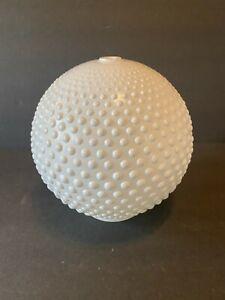 "Vintage Hobnob Light Shade Globe Milk Glass MCM Art Deco 8"" High 8"" Wide"