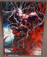 Spiderman vs Venom & Carnage Glossy Art Print 11 x 17 In Hard Plastic Sleeve