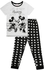 Disney Minnie and Mickey Mouse Life is Not always Long Ladies Pyjamas Pjs