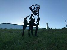 More details for boxer dog metal garden art