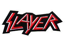 "SLAYER BACK PATCH EMBROIDERED THRASH METAL BAND BIG SIZE 13x5"""