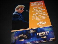 Elton John The Who Jimmy Buffett more at the No J&H Festival Promo Poster Ad