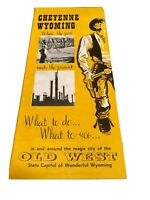 Old Meets New Cheyenne Wyoming Old Wild West Vintage 1960s Brochure Past Present