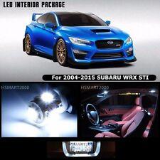 8PCS Cool White LED Bulbs Interior Package Kit For 2006 Subaru WRX STI
