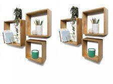 6 Square Wall Shelves Floating Shelf Display Bookshelf Storage Display Decor Set