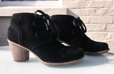 Clarks Artisan Black Suede Ankle Boots - UK 6 (D) - Stunning - RRP £70.00