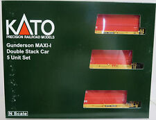 Kato 106-6192 Gunderson MAXI-I Double Stack Car TTX w/ CAI Container N Scale NOS