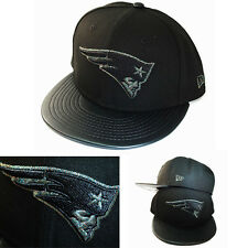 4a4aefbfa3dda New Era NFL England Patriots Negro Gorra Snapback Metálico Logo Piel  Sintética
