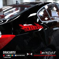 2x DRACARYS Game of Thrones Daenerys Dragon Fire Race Car Vinyl Sticker Decal