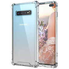 Samsung Galaxy S10 Plus HeavyDuty Shockproof Bumper Clear Transparent Case Cover
