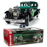 AUTOWORLD AW261 1931 PEERLESS MASTER 8 SEDAN DARK GREEN DIECAST MODEL CAR 1:18