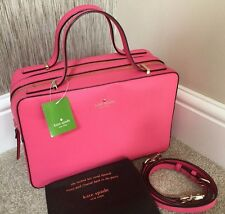KATE SPADE CABERET PINK SAFFIANO LEATHER JOYCE BOX BAG SATCHEL BNWT RETAIL £275