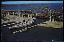 "BURLINGTON, ONT ""BURLINGTON SKYWAY BRIDGE, HAMILTON, ONTARIO, CANADA""-SHIPS-1968"
