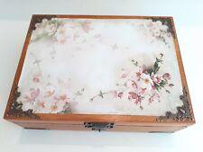 Wooden Keepsake Box, Decorative Box, Wood Box, Jewelry Box, Tea Bag Box, Patt 7