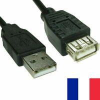 2X Grand Câble USB Standard Male vers Standard Femelle Longueur 1 Mètre 1M
