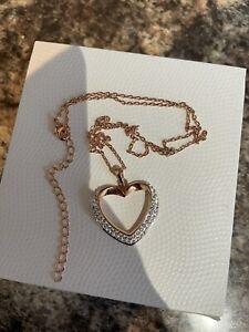 Rose Gold Swarovski Heart Necklace