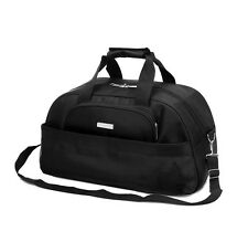 """22"""" Travel Tote Duffle Bag With Straps Carry On- Black"""