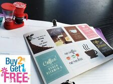 PP004 -- 8 pcs Coffee Inspiration Quote Life Planner Stickers for Erin Condren