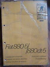 Fiat Schlepper 880-5 + 880-5 DT Ersatzteilkatalog